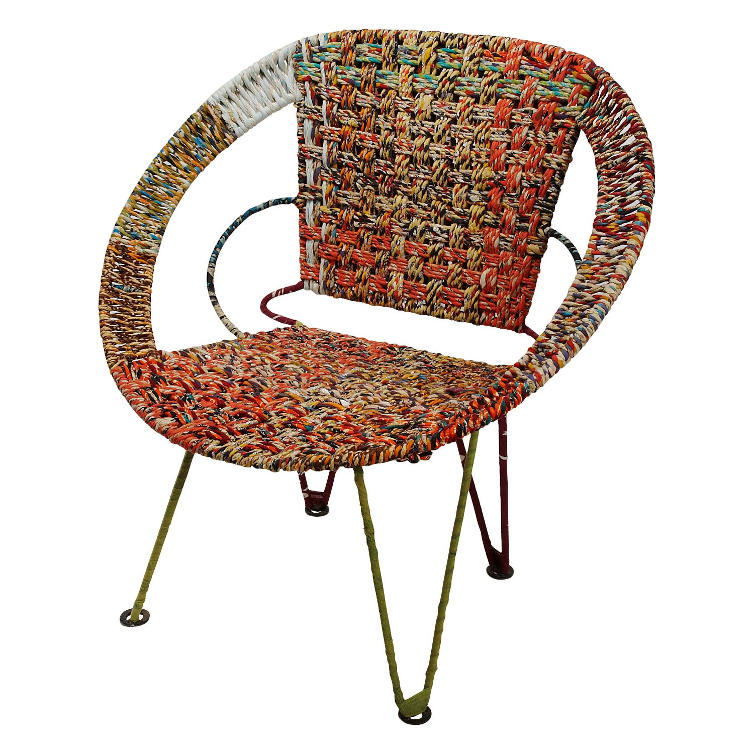 Ten Thousand Villages Mid Century Sari Chair - fair trade furniture