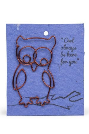 Wire Owl  Gift Bookmark