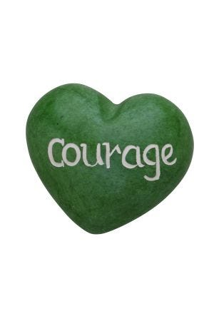 Courage Heart Paperweight