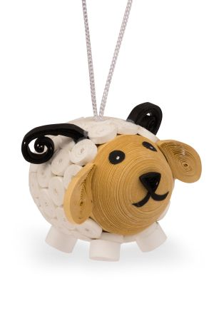 Quilled Paper Sheep Ornament