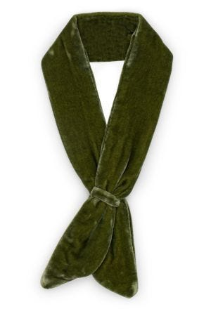 Velvet Neckerchief (Green)