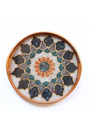 Medieval Reverse Painted Tray