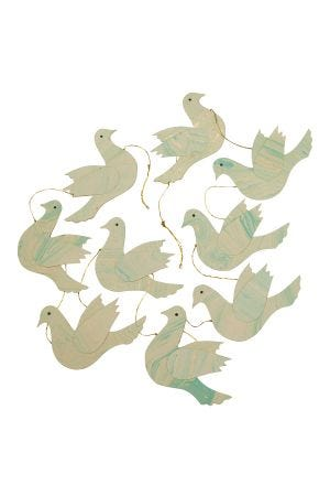 Doves of Peace Paper Garland
