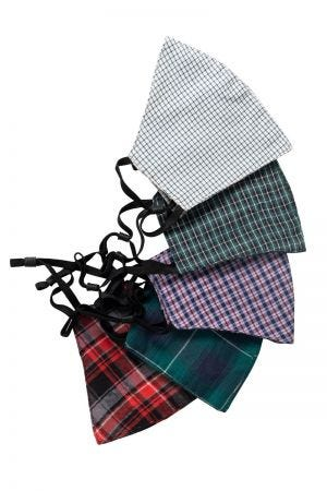 Assorted Plaids Face Mask Pack of 5