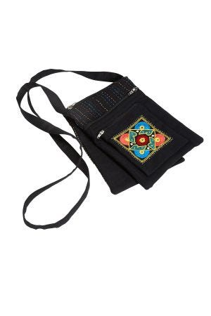 Embroidered Cross-Body Bag