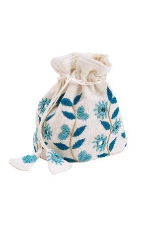 Precious Gift Jewelry Bag (Blue)