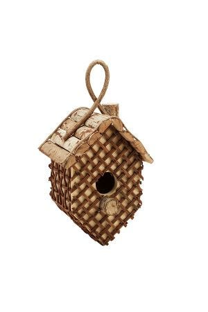 Latticed  Twig Birdhouse