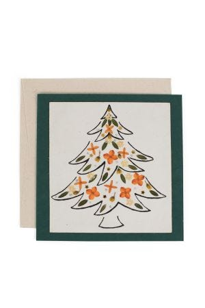 Flowery Tree Christmas Card