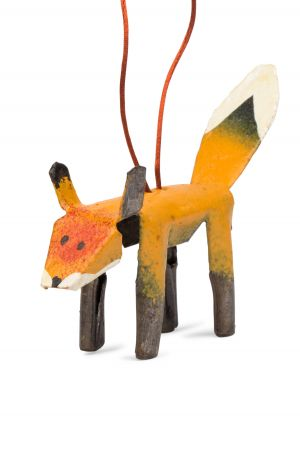 Cut Metal Fox Ornament