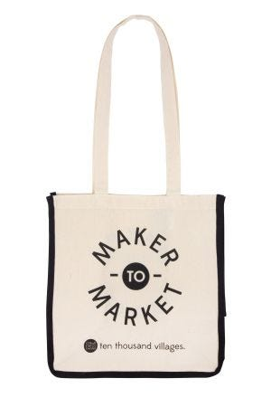 Maker To Market Organic Cotton Reusable Bag