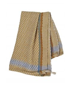 Checked Tea Towel (Gold)